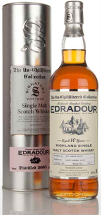 Edradour Scotch Single Malt 10 Year Unchillfiltered...